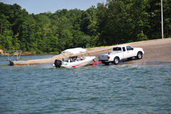 Boating In Indiana, USA Royalty Free Stock Images