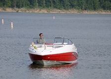 Boating In Kentucky. Boating on Taylorsville Lake in Kentucky, USA Royalty Free Stock Photography