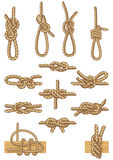 Boating knots. Vector illustration - set of boating knots Royalty Free Stock Images