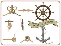 Boating knots Stock Images