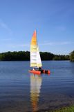 Boating in the lake Royalty Free Stock Images