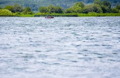 Boating On A Lake Stock Photography