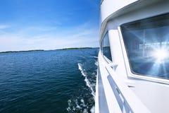 Boating on lake Stock Photos