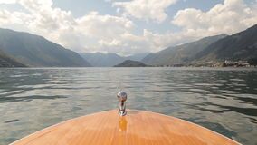 Boating on the lake stock footage