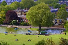 Boating lake in Greenwich park, London Stock Photo