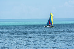 Boating on Lake Michigan stock photos
