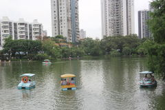 Boating in the lake in SHEKOU SHENZHEN Stock Photos
