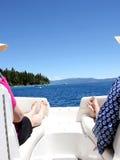 Boating on the lake Stock Image
