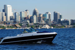 Boating in Lake Union Royalty Free Stock Images