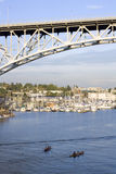 Boating on Lake Union of Seattle Stock Image