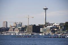 Boating at Lake Union Seattle Stock Image