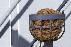 Boating and marine ropes. Safety boating and marine ropes Stock Image