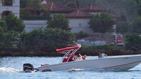 Boating Miami 4k stock video