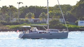 Boating Miami 4k stock video footage