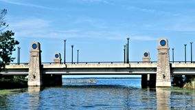 Approaching Lake Bemidji wile heading north on Mississippi River royalty free stock photography