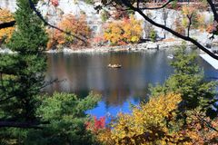 Boating on Mohonk Lake Royalty Free Stock Photography