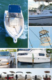 Boating montage Royalty Free Stock Photo