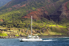 Boating Na Pali Stock Photo