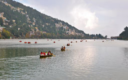 Boating at naini lake Royalty Free Stock Photo