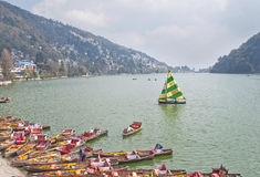 Boating in Naini Lake, india Stock Photos