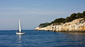Boating Near Cassis Stock Photography