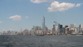 Boating by New York City stock video footage