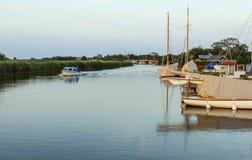 Norfolk Broads boating scene Royalty Free Stock Photo