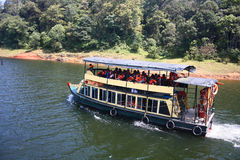 Boating at Periyar Tiger Reserve in Thekkady Royalty Free Stock Photos