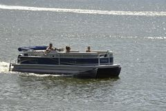 Boating on the Potomac River stock images