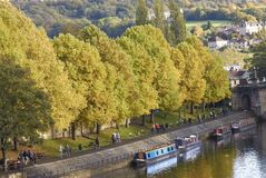 Boating on the River Avon in Bath Stock Image