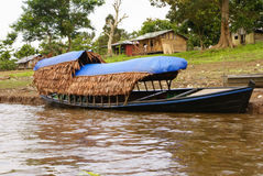 Boating on the River, peru Amazon Royalty Free Stock Image