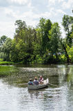 Boating on the river. Stock Photography