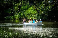 Boating on the river. Stock Image