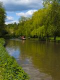 The River Wey.Guildford ,Surrey,England. Boating on the River Wey at Guildford ,Surrey England stock photos