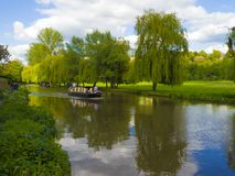 The River Wey.Guildford ,Surrey,England. Boating on the River Wey at Guildford ,Surrey England royalty free stock photo