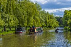 The River Wey.Guildford ,Surrey,England. Boating on the River Wey at Guildford ,Surrey England stock images