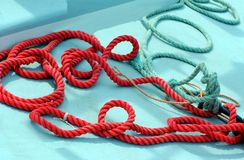 Boating Ropes Royalty Free Stock Photography