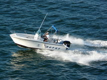 Boating in San diego. Active holiday boating fishing sun water speed Stock Photos