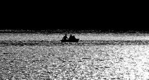 Boating Sillouette. On a Northern Lake Canada Stock Photos