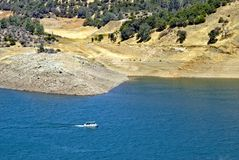 Boating on small lake, California Stock Photo