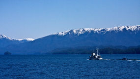 Boating Southeast Alaska Stock Image