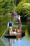 Boating on Stour river, Canterbury, UK Stock Photo