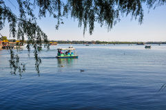 Boating in the Summer Palace Royalty Free Stock Photo