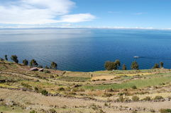 Boating Titicaca Royalty Free Stock Photos
