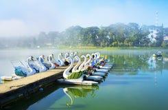 Boating tourism at Xuan Huong lake Stock Photo