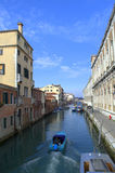 Boating in Venice canal Royalty Free Stock Photography