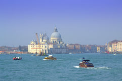 Boating in Venice lagoon stock photography