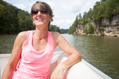 Boating Woman stock photography