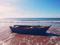 Boatle w morzu Obrazy Royalty Free