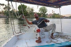 The boatman Stock Images